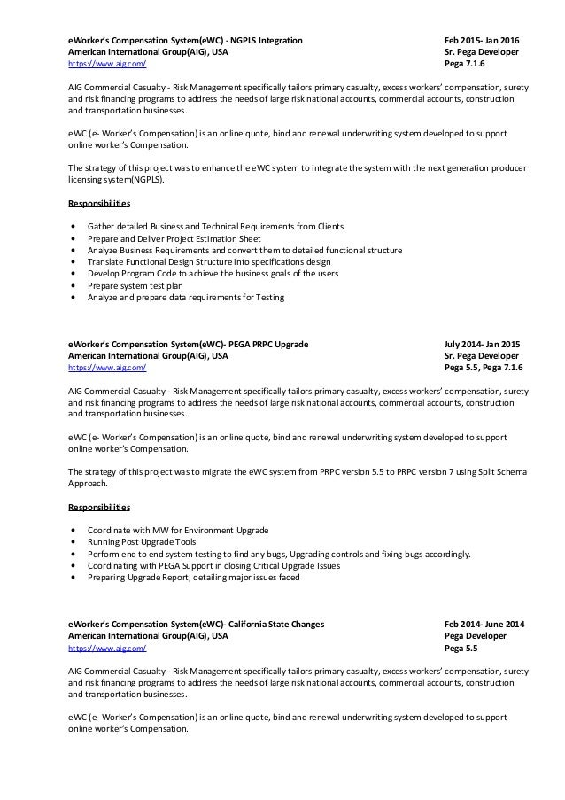 Property And Casualty Web Developer Resume