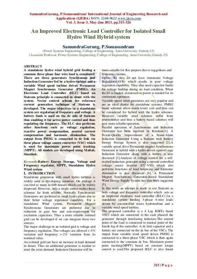 SamundraGurung, P.Somasundram/ International Journal of Engineering Research andApplications (IJERA) ISSN: 2248-9622 www.i...