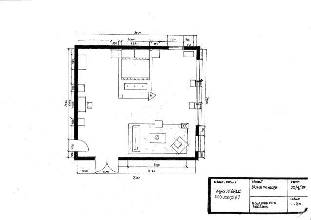 Floor Plan One Point Perspective Alex Steele 3