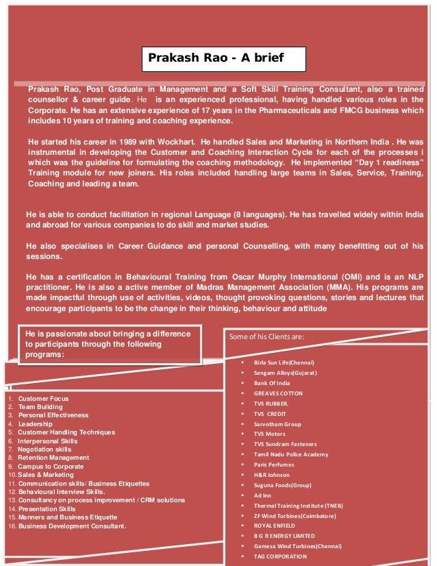 Prakash Rao Corporate Trainer Profile 5