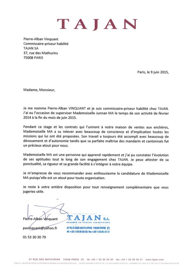 Reference letter tajan with english translation spiritdancerdesigns Gallery