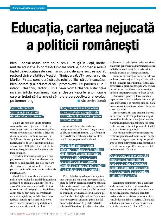 """CercetareÎnvățământ superior Monica Calotă, directorul ANPCDEFP: """"Putem transforma România prin învățare! Care sunt princi..."""