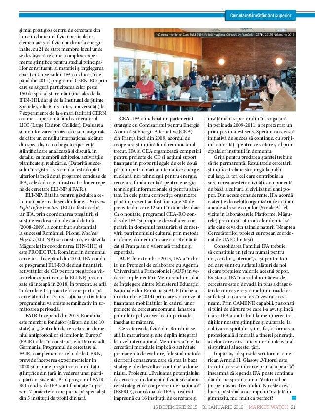 Dr. Ionuţ Enculescu, director general INCDFM CercetareÎnvățământ superior Direcţii de cercetare strategice în INCD pentru ...