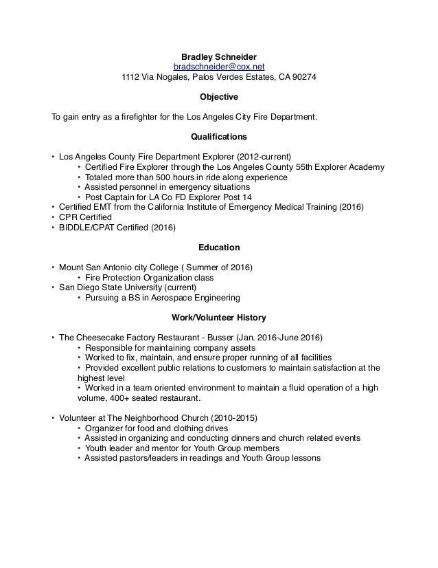 LAFD Resume