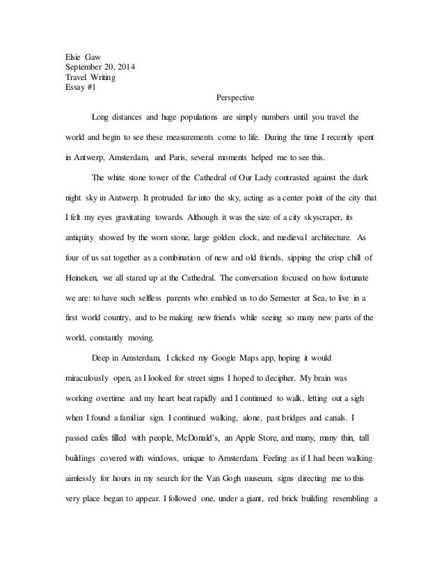 Thesis Statement Narrative Essay  Sample English Essay also Professional College Writing Services Perspective Essay Essay Proposal Example