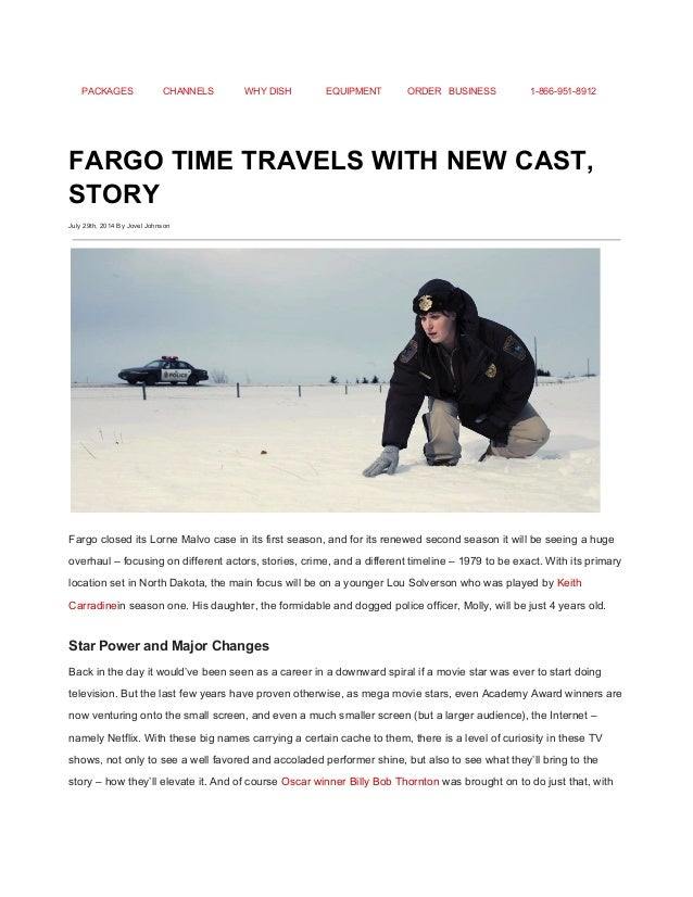 FARGO TIME TRAVELS WITH NEW CAST STORY