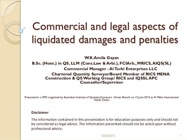 Liquidating damages definition legal