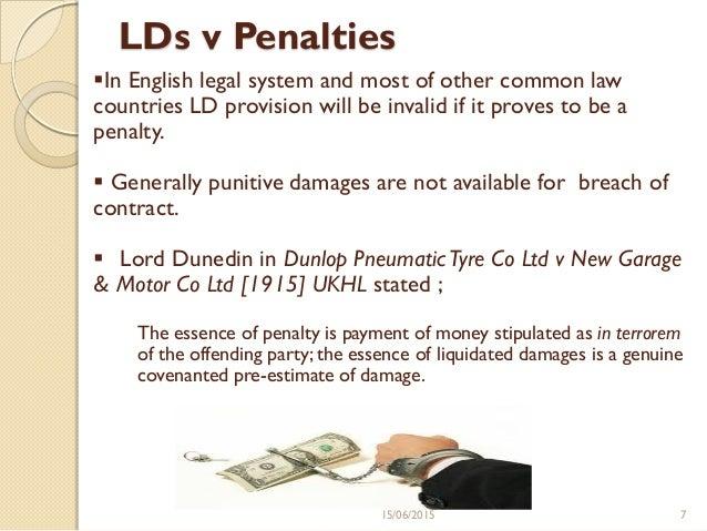 Liquidating damages