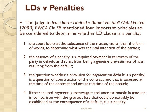 liquidated damages penalty clause
