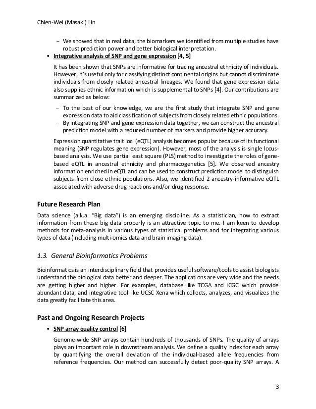 Research Statement Chien-Wei Lin
