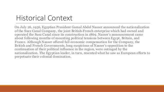 Suez Crisis 1956 Research Presentation MG Slide 2