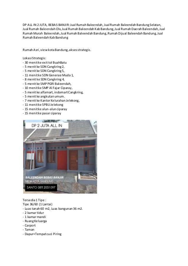DP ALL IN 2 JUTA, BEBAS BANJIR:Jual RumahBaleendah,Jual RumahBaleendahBandungSelatan, Jual Rumah BaleendahOlx,Jual RumahBa...