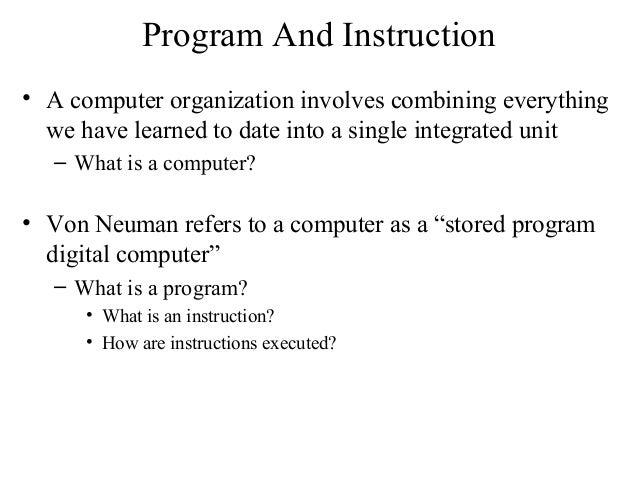 Basic computer organization and design notes pdf