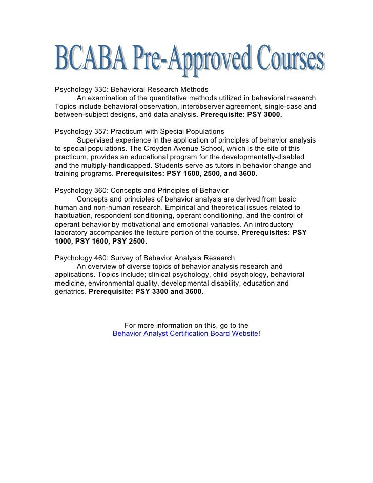 Bcaba approved courses