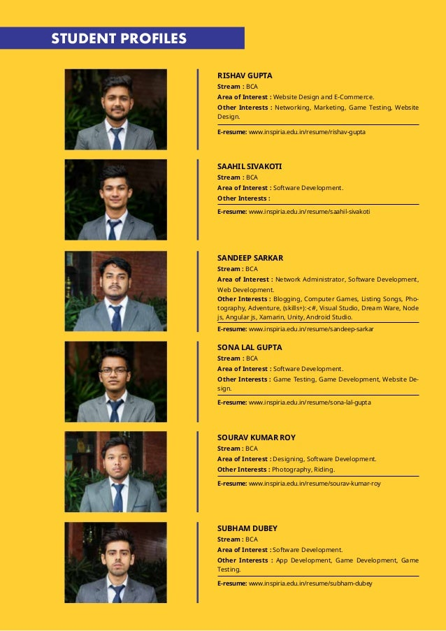 Bca Placement Brochure Batch Of 2016