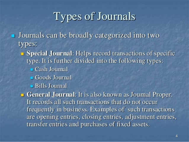 four different special journals The sales journal is a special journal designed to record a single type of frequently occurring transaction — in this case, credit sales.