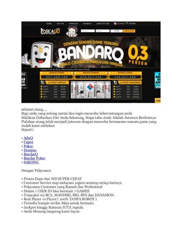 Bcaqq Bandarq Online Poker Capsa Online Aman Terpercaya