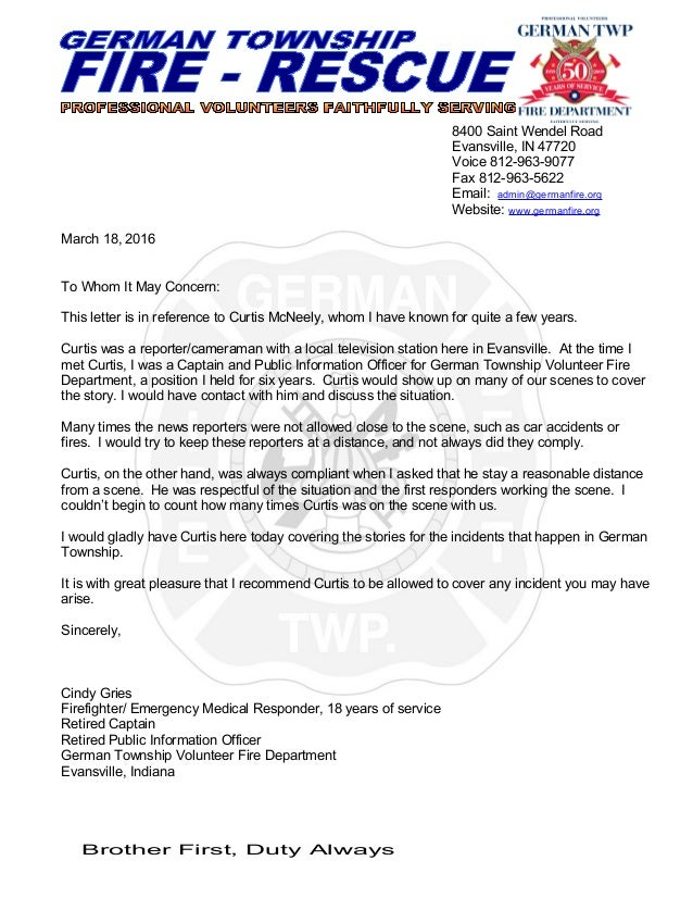 Reference Letter For Curtis McNeely 3 18 16