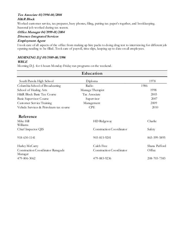 Unforgettable Tax Preparer Resume Examples To Stand Out Sample