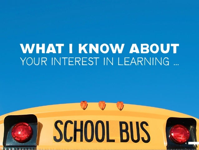 WHAT I KNOW ABOUTYOUR INTEREST IN LEARNING ...                                4