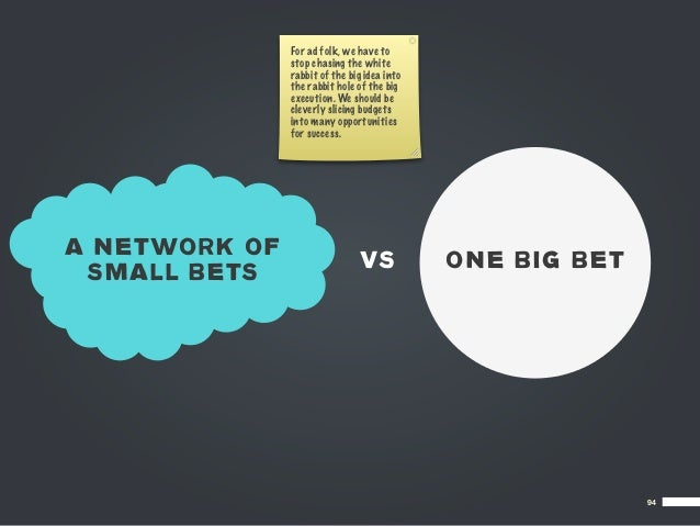 For ad folk, we have to               stop chasing the white               rabbit of the big idea into               the r...