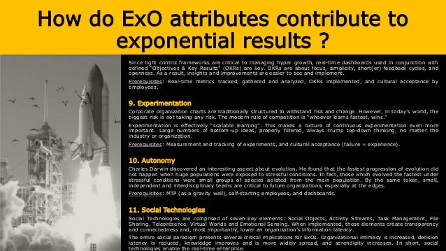 How do ExO attributes contribute to exponential results ? Since tight control frameworks are critical to managing hyper gr...
