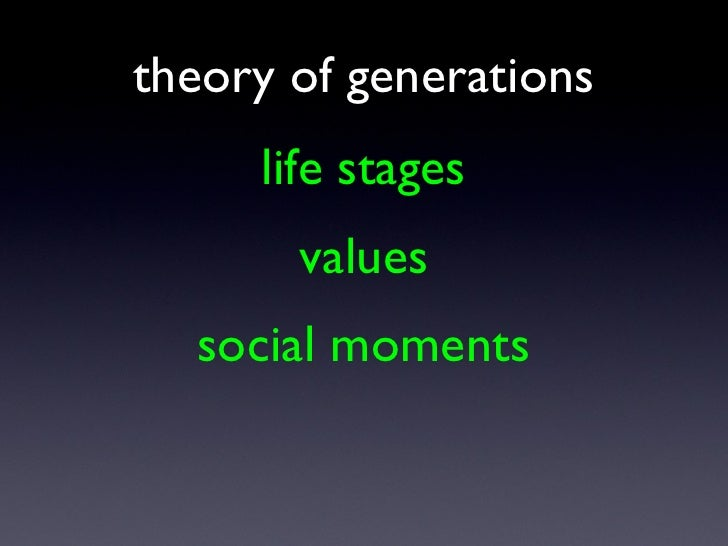 life stages theory of generations values social moments