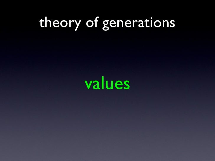 values theory of generations