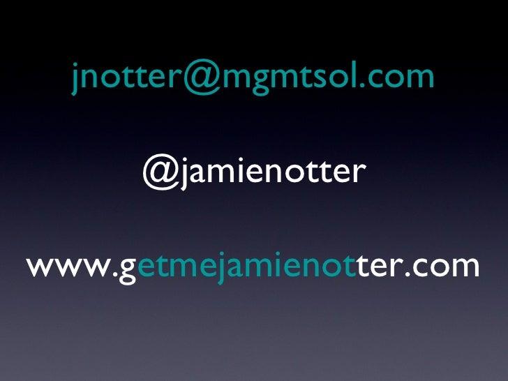 [email_address] @jamienotter www.g etmejamienot ter.com