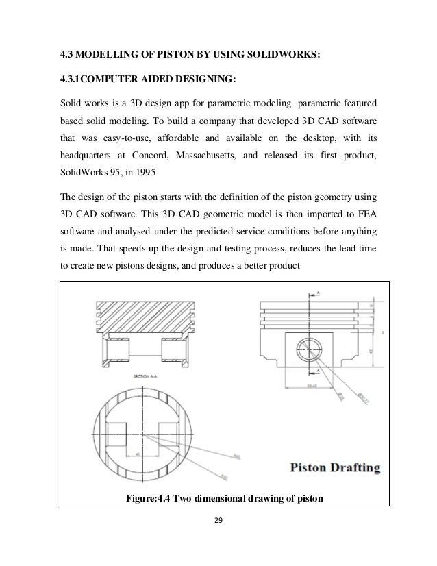 DESIGN AND ANALYSIS OF COMPOSITE PISTON BY USING SOFTWARE