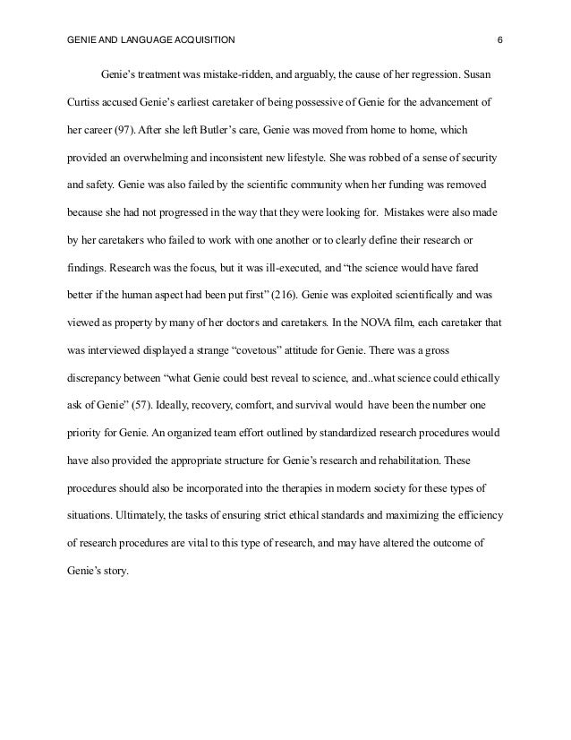 psychology essay in case of genie as related to nature and nurture 2015-5-22  the debate on nature versus nurture has been settled, and according to science, it's a draw the debate on nature versus nurture has been settled, and according to science, it's a draw  for example, in the case of bipolar disorder, this was found to be around 70 percent genetic and only 30 percent due to environmental factors.