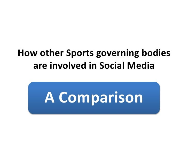 How other Sports governing bodies are involved in Social Media<br />