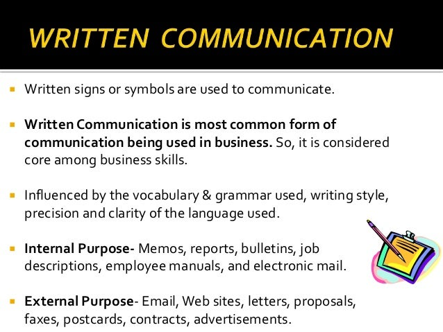 and written communication
