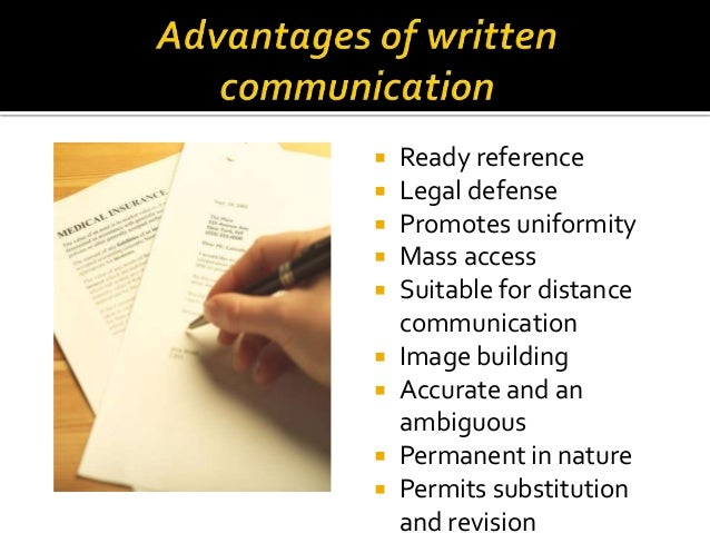 oral and written communication