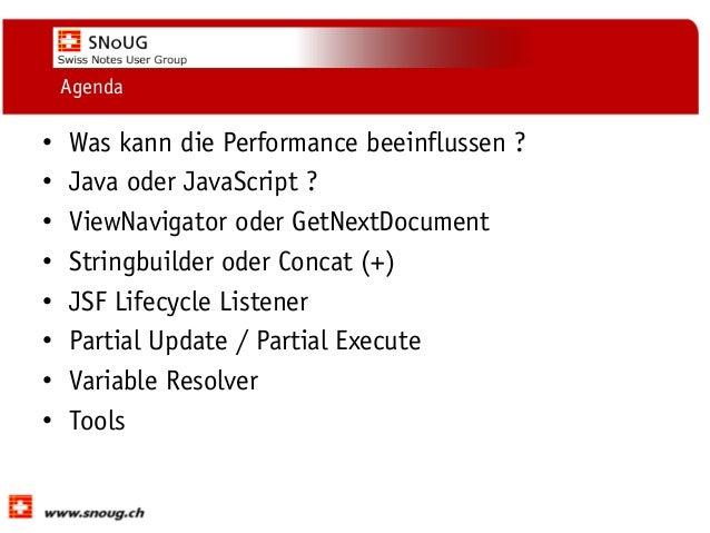 XPages: Performance-Optimierung  - Ulrich Krause (eknori) SNoUG 2013 Slide 3