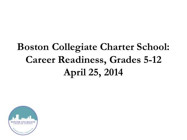Boston Collegiate Charter School: Career Readiness, Grades 5-12 April 25, 2014