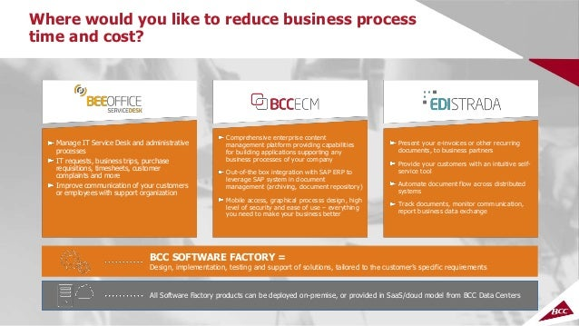 BCC Software Factory - software development and maintenance