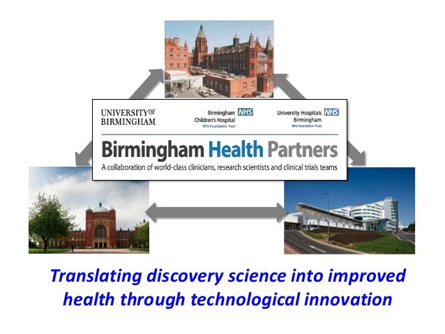 Translating discovery science into improved health through technological innovation