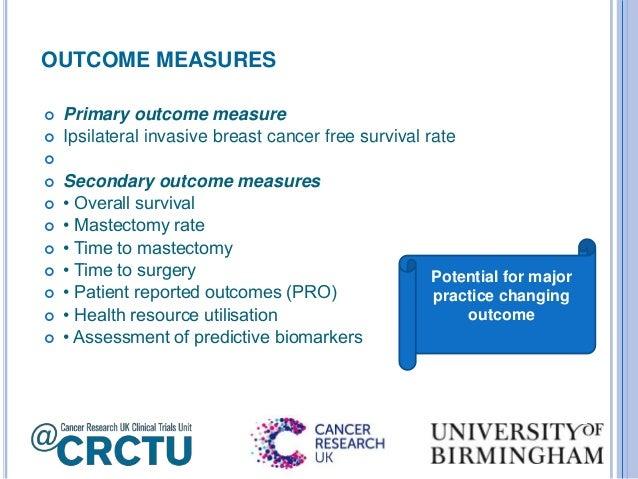 Secondary outcome measures clinical trials