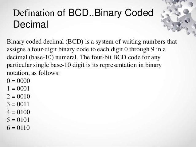 binary code decimal