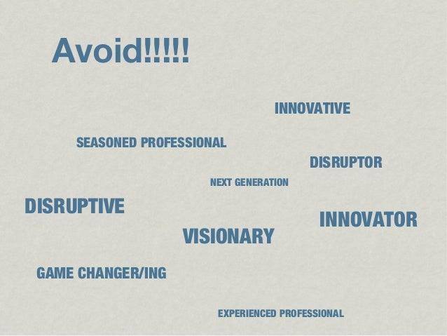 Avoid!!!!!                                   INNOVATIVE     SEASONED PROFESSIONAL                                         ...