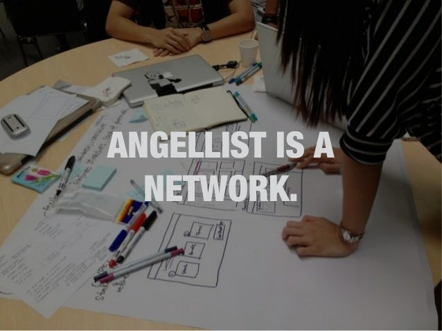 ANGELLIST IS A  NETWORK.