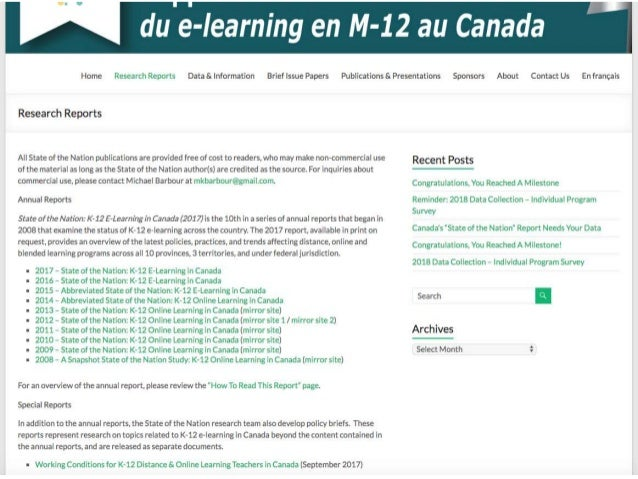 BCDLAA 2018 - State of the Nation: K-12 e-Learning in Canada