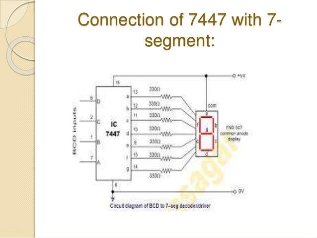 bcd to 7 segment display rh slideshare net 7400 IC 7442 IC