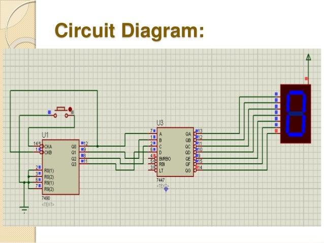 bcd to 7 segment displayCounter Using 7 Segment Display Public Circuit Online Circuit #13