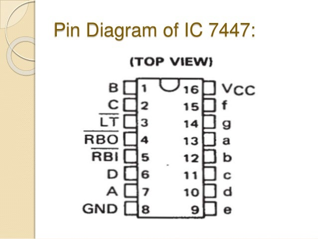 Pinout Diagram Of Ic 7447 Enthusiast Wiring Diagrams