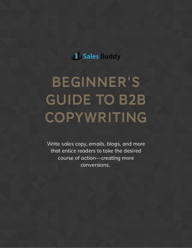 Beginner's Guide to B2B Copywriting