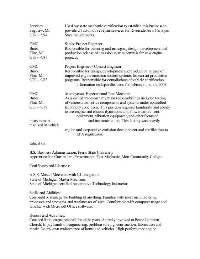 Dave's Resume Current Slide 2