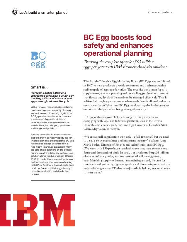 Consumer ProductsLet's build a smarter planet The British Columbia Egg Marketing Board (BC Egg) was established in 1967 to...
