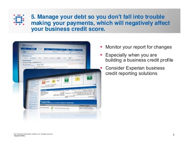 Six Steps to Establishing a Business Credit Report and Score
